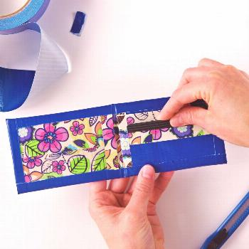 DIY Duct Tape Wallet Learning how to make your own duct tape wallet is easy and fun to do with the