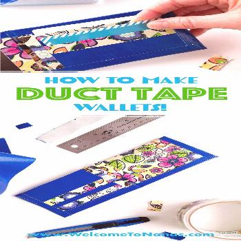 How To Make a Duct Tape Wallet - Welcome To Nana's