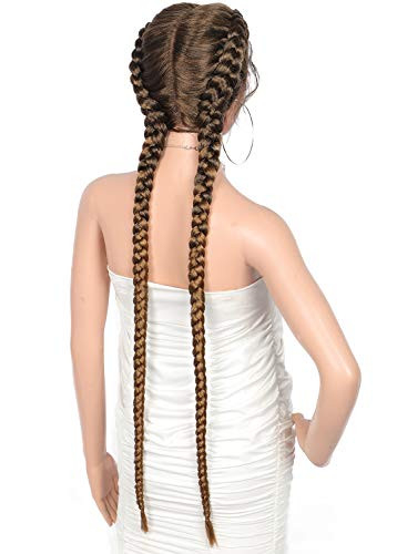"""Beauart 36"""" Extra Long 100% Hand Braided Swiss Lace Front"""