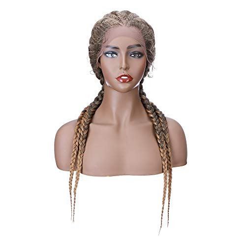 Hairro Hand-braid Synthetic Lace Front Wigs for Black Women